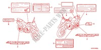 CAUTION LABEL (1) Honda motorcycle microfiche diagram XRE300AC 2012 XRE 300 ABS
