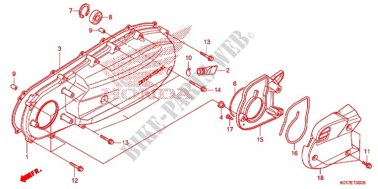 Left Side Cover For Honda Sh 150 2013   Honda Motorcycles  U0026 Atvs Genuine Spare Parts Catalog