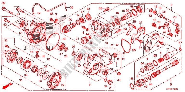 FRONT FINAL GEAR for Honda FOURTRAX 420 RANCHER 4X4 Manual ...
