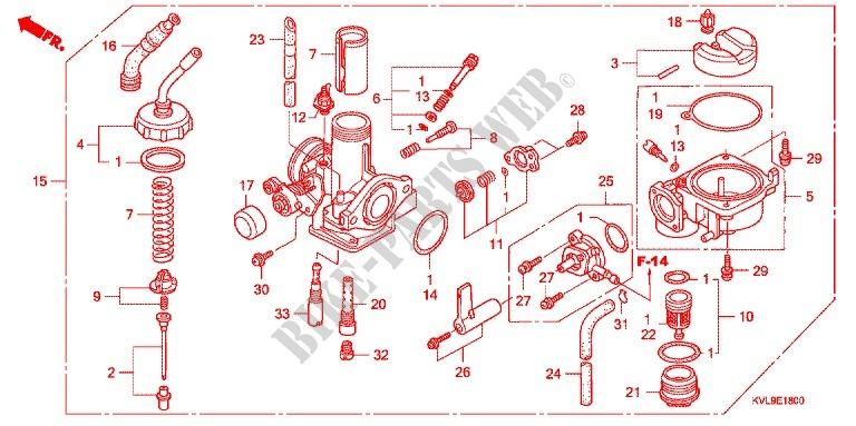 Carburetor  2  For Honda Innova 125 2009   Honda