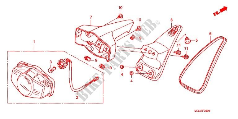 TAILLIGHT (2) for Honda CB 1100 ABS 2013