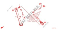 MAIN STAND   BRAKE PEDAL for Honda CB 500F WHITE 2014