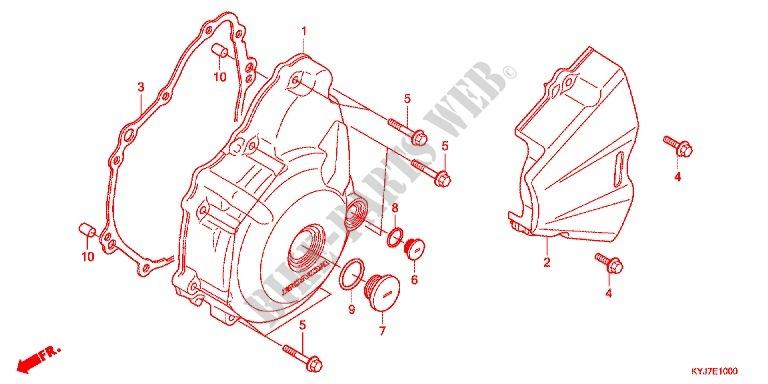 honda moto 250 cbr 2013 cbr250rad engine left crankcase cover/ generator (2)