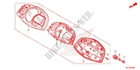 HEADLIGHT/SPEEDOMETER (2) Honda motorcycle microfiche diagram CBR600RAD 2016 CBR 600 RR ABS HRC