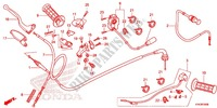 HANDLE LEVER/SWITCH/CABLE (1) Honda motorcycle microfiche diagram CRF110FE 2016 CRF 110