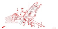 FRAME BODY Honda motorcycle microfiche diagram CRF110FE 2016 CRF 110