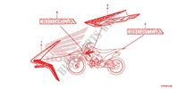 STRIPE/MARK (1) Honda motorcycle microfiche diagram CRF110FE 2016 CRF 110