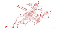 WIRE HARNESS/BATTERY Honda motorcycle microfiche diagram CRF125FBE 2014 CRF 125 BIG WHEEL