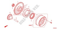 STARTING CLUTCH (C90MP/MT) Engine 125 honda-motorcycle CRF 2014 E_08