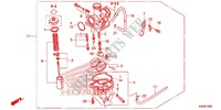 CARBURETOR (2) Honda motorcycle microfiche diagram CRF125FE 2016 CRF 125