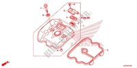 CYLINDER HEAD COVER for Honda CRF 250 L ROJO 2013