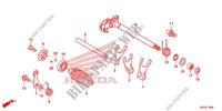 GEARSHIFT DRUM   SHIFT FORK for Honda CRF 250 L RED 2013
