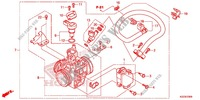 THROTTLE BODY for Honda CRF 250 L RED 2013