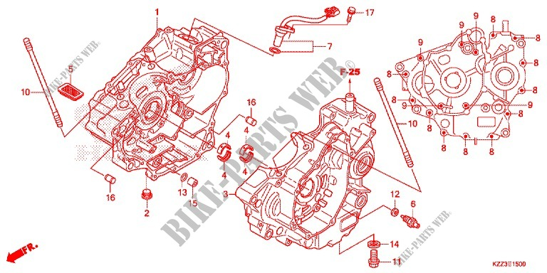 CRANKCASE   OIL PUMP for Honda CRF 250 L 2014