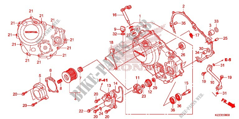 RIGHT CRANKCASE COVER for Honda CRF 250 L 2014