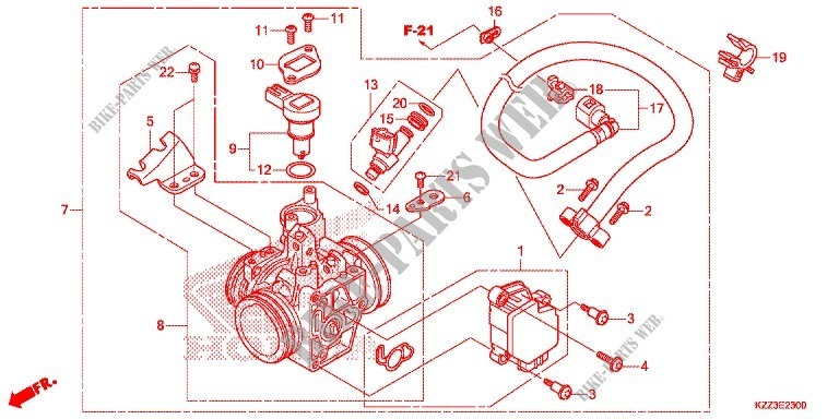 THROTTLE BODY for Honda CRF 250 L 2014