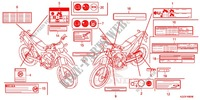 CAUTION LABEL (1) Frame 250 honda-motorcycle CRF 2014 F_49