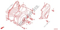LEFT CRANKCASE COVER/ GENERATOR (2) Honda motorcycle microfiche diagram CRF250ME 2014 CRF 250 M BLACK