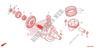 CRANKSHAFT for Honda CRF 250 M RED 2014