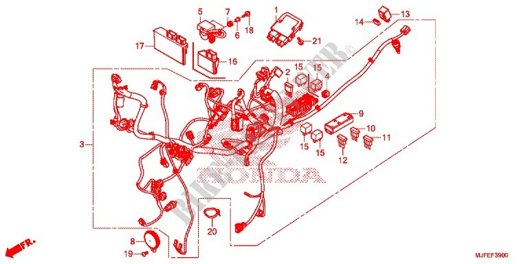 Wire Harness  Battery For Honda Ctx 700 N Abs 2014   Honda