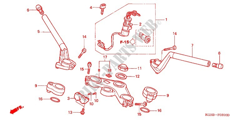 Handlebar Triple Clamp Steering Stem  Fs1251  2  3  For