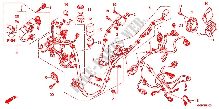 Wire Harness  Nsc50  Mpd  Wh  For Honda Vision 50 2016