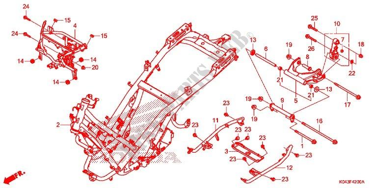 Frame For Honda Forza 300 Abs 2013   Honda Motorcycles