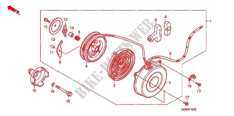 HONDA 28432-HB6-004 PIN STARTER RATCHET