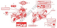 CAUTION LABEL (1) for Honda CBR 650 F ABS HRC TRICOLOR 2015