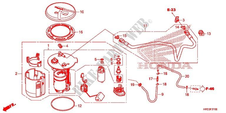 Fuel Pump For Honda Fourtrax 420 Rancher 2x4 Base 2014