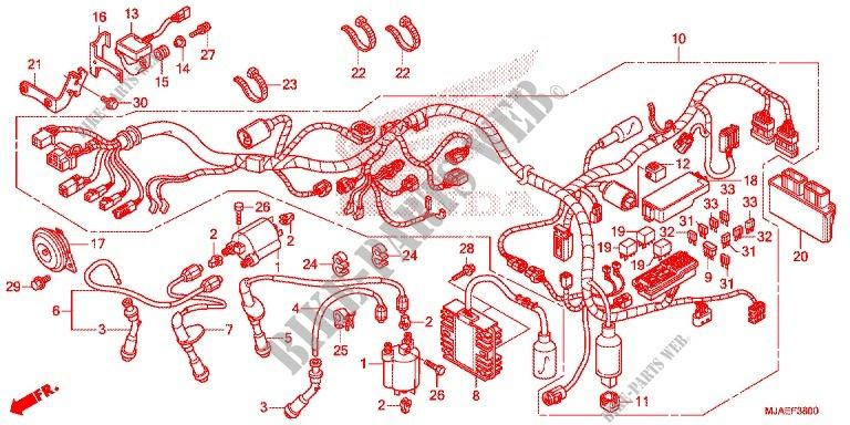 Wire Harness  Vt750cs  C2s  For Honda Shadow Vt 750 Spirit