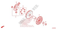 DRIVE FACE/ KICK STARTER SPINDLE Honda motorcycle microfiche diagram WW125EX2F 2015 PCX 125 LIMITED EDITION