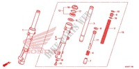 FRONT FORK/FRONT FENDER Honda motorcycle microfiche diagram WW125EX2F 2015 PCX 125 LIMITED EDITION