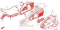 FRONT COVER/AIR CLEANER Honda motorcycle microfiche diagram WW125EX2F 2015 PCX 125 LIMITED EDITION