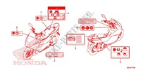 CAUTION LABEL (1) Honda motorcycle microfiche diagram WW125EX2F 2015 PCX 125 LIMITED EDITION