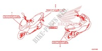 MARK/EMBLEM Honda motorcycle microfiche diagram WW125EX2F 2015 PCX 125 LIMITED EDITION