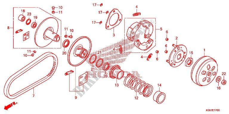 Clutch For Honda Pcx 125 2015   Honda Motorcycles  U0026 Atvs
