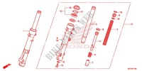 FRONT FORK/FRONT FENDER Honda motorcycle microfiche diagram WW150C 2012 PCX 150
