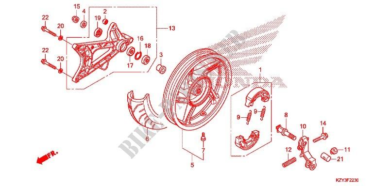 Rear Wheel Swingarm For Honda Pcx 150 2012   Honda