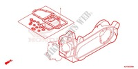 GASKET KIT B Honda motorcycle microfiche diagram WW150D 2013 PCX 150