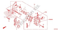 FRONT BRAKE CALIPER Honda motorcycle microfiche diagram WW150D 2013 PCX 150