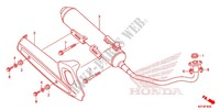 EXHAUST MUFFLER (2) Honda motorcycle microfiche diagram WW150D 2013 PCX 150