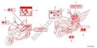 CAUTION LABEL (1) Honda motorcycle microfiche diagram WW150D 2013 PCX 150