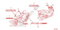 MARK/EMBLEM Honda motorcycle microfiche diagram WW150D 2013 PCX 150