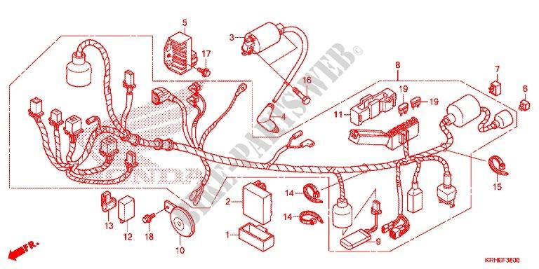 Wire Harness  Xr125lek  For Honda Xr 125 L Electric Start   Kick Start 2013   Honda Motorcycles