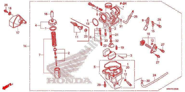 CARBURETOR 2 Engine XR125LEKE 2014 XR 125 MOTO Honda motorcycle