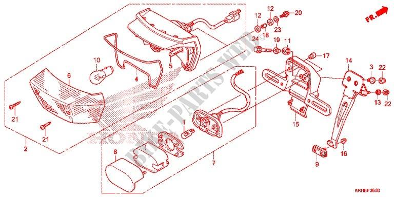 Taillight  2  For Honda Xr 125 L Kick Start Only 2012   Honda Motorcycles  U0026 Atvs Genuine Spare