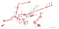 MAIN STAND/ BRAKE PEDAL Frame 250 honda-motorcycle XR 2007 F_18