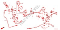 HANDLE LEVER/SWITCH/CABLE (1) Honda motorcycle microfiche diagram CBR125RWB 2011 CBR 125