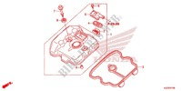 CYLINDER HEAD COVER for Honda CRF 250 L RED 2015